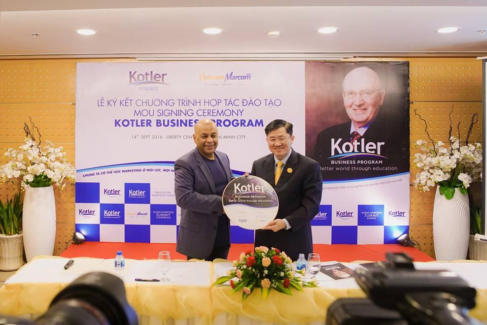 VietnamMarcom và Kotler Impact ký kết hợp tác và triển khai chương trình Kotler Business Program